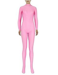 Zentai Suits Ninja Zentai Cosplay Costumes Pink Solid Leotard/Onesie Zentai Spandex Lycra Unisex Halloween