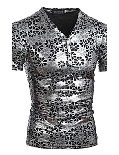 お買い得  メンズTシャツ&タンクトップ-男性用 スポーツ 週末-プリント Tシャツ パンク&ゴシック スリム コットン