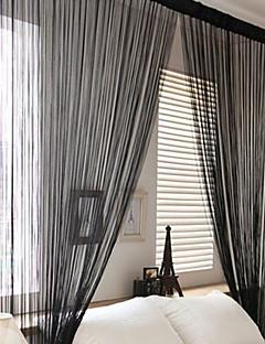 baratos Cortinas Transparentes-Barra no Interior Um Painel Tratamento janela Regional, Estampado Sala de Estar Poliéster Material Cortinas cortinas Decoração para casa