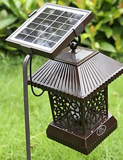 billige Lampestolper-1 stk LED Solcellebelysning Dekorations Lys Soldrevet Batteri Oppladbar Vanntett
