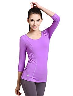 Mulheres Camiseta de Corrida Manga Longa Anti-Estático Respirável Compressão Redutor de Suor Camiseta Blusas para Ioga Pilates Exercício