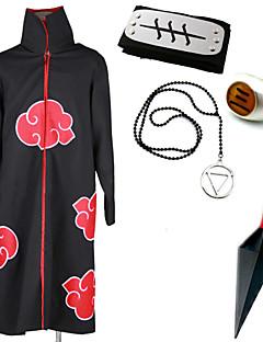 """billige Anime cosplay-Inspirert av Naruto Hidan Anime  """"Cosplay-kostymer"""" Cosplay Klær Mer Tilbehør Trykt mønster Kappe Mer Tilbehør Til Herre"""