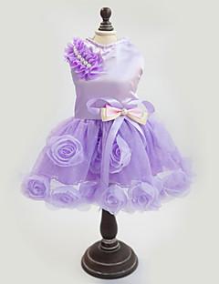 Dog Dress Purple / Pink Dog Clothes Summer / Spring/Fall Floral / Botanical Fashion / Wedding / New Year's