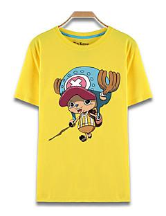 """billige Anime Kostymer-Inspirert av One Piece Tony Tony Chopper Anime  """"Cosplay-kostymer"""" Cosplay T-skjorte Trykt mønster Kortermet Topp Til Herre Dame"""
