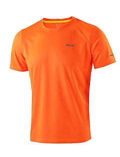 billige Løbetøj-Arsuxeo Herre Løbe-T-shirt Kortærmet Hurtigtørrende, Anti-statisk, Åndbart T-Shirt / Toppe for Yoga / Campering & Vandring / Klatring