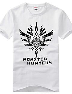 montserハンター綿のTシャツに触発