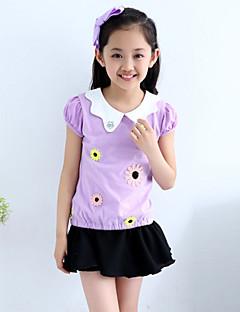 Mädchen T-Shirt Baumwolle Sommer Rosa / Lila / Gelb
