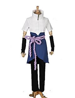 """billige Anime Kostymer-Inspirert av Naruto Sasuke Uchiha Anime  """"Cosplay-kostymer"""" Cosplay Klær Lapper Kortermet Bandasje / Topp / Bukser Til Herre Halloween-kostymer"""
