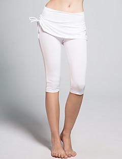 calças de yoga Cropped Respirável Anti-Estático Redutor de Suor Natural Com Elástico Moda Esportiva Branco Preto MulheresIoga Pilates
