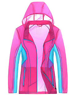 cheap Softshell, Fleece & Hiking Jackets-Women's Unisex Hiking Jacket Outdoor Winter Waterproof Quick Dry Windproof Ultraviolet Resistant Anti-Eradiation Breathable Top Camping /