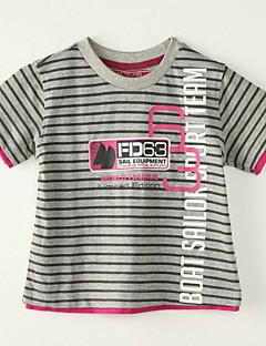 Poikien Raidoitettu Polyesteri T-paita, Kesä