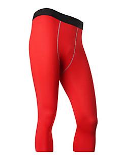 Férfi Hlače za trčanje Gyors szárítás Légáteresztő 3/4 Tights Leggingek Alsók mert Fitnessz Futás Fekete Szürke Piros Zöld Kék S M L XL