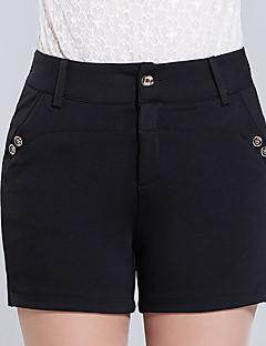 Dámské Větší velikosti Džíny Kalhoty,Běžné/Denní Jednoduchý Jednobarevné High Rise Knoflíky Poliester Mikroelastické léto