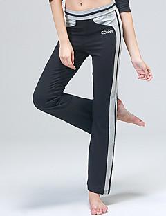 billiga Träning-, jogging- och yogakläder-CONNY Dam Yoga byxor - Svart / vit, Svart + Lila sporter Rand Byxa Pilates, Löpning, Fitness Sportkläder Snabb tork, Andningsfunktion Elastisk