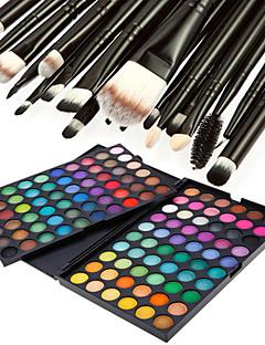 120ØjenskyggerMakeupbørster Tør Mat Glans Mineral Øjne Glitter glans (gloss) Farvet glans Dekning Længerevarende Vandtæt Naturlig