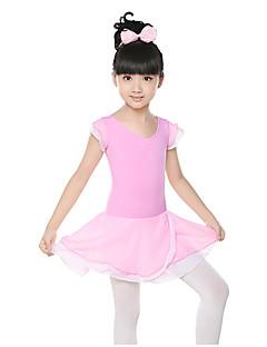 Θα φορέσουμε τα φορέματα μπαλέτου παιδική κατάρτιση σιφόν ruched φόρεμα