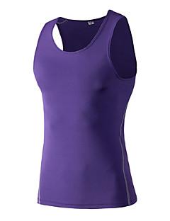 billiga Träning-, jogging- och yogakläder-Herr Gymlinne - Röd, Grön, Blå sporter Collegetröja / Linne / Överdelar Motion & Fitness, Löpning Sportkläder Snabb tork,