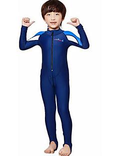 お買い得  ウェットスーツ/ダイビングスーツ/ラッシュガードシャツ-Dive&Sail 男の子 / 女の子 ダイブスキンスーツ SPF50, UVサンプロテクション, 速乾性 タクテル フルボディー スイムウェア ビーチウェア ダイビングスーツ パッチワーク フロントファスナー 潜水 / サーフィン / シュノーケリング