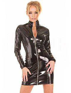 billige Sexy kostymer-Flere Kostymer Cosplay Kostumer Herre Dame Karneval Nytt År Festival / høytid Halloween-kostymer Svart Ensfarget Sexy Uniformer Flere