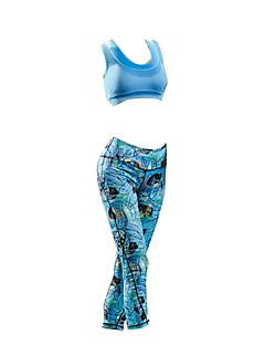 billige Sett med sykkeltrøyer og shorts/bukser-Sykkeljersey med tights Dame Ermeløs Sykkel Klessett Vanntett Bomull Sommer Sykling/Sykkel