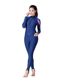 Dive&Sail 여성용 1mm 잠수복 다이빙 스킨 전신 잠수복 자외선 방지 압축 풀 바디 스팬덱스 폴리아마이드 잠수복 긴 소매 다이빙 복-다이빙 파도타기 스노쿨링