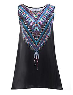 Χαμηλού Κόστους Print Dresses-Γυναικεία Αργίες Μπόχο Swing Φόρεμα Στάμπα Μίνι