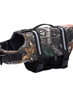 billiga Hundkläder-Hund Floatcoat för hund Livväst Hundkläder Kamouflage Nylon Kostym För husdjur Unisex Vattentät
