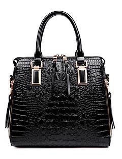 hesapli -Kadın Çantalar Patentli Deri için Alışveriş Günlük Resmi Tüm Mevsimler Beyaz Siyah Fuşya Mavi