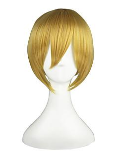 billiga Anime/Cosplay-peruker-Cosplay Peruker Vocaloid Kagamine Len Animé Cosplay-peruker 91.44 cm CM Värmebeständigt Fiber Herr / Dam Halloweenkostymer