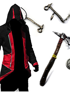 """billige Anime Kostymer-Inspirert av Snikmorder Conner Anime  """"Cosplay-kostymer"""" Cosplay Topper / Underdele / Våpen Vintage Langermet Topp / Mer Tilbehør Til Herre Halloween-kostymer"""