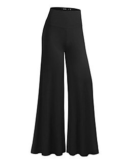 Women's High Rise Micro-elastic Wide Leg Business Pants,Casual Solid Polyester All Seasons