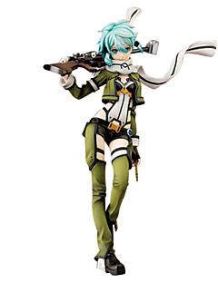 billige Anime cosplay-Anime Action Figurer Inspirert av Sword Art Online Shino 24 cm CM Modell Leker Dukke Dame