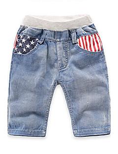 Para Meninos Shorts Casual Listrado Verão Algodão