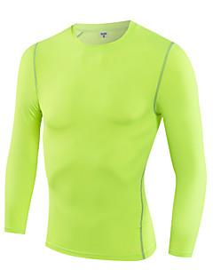 billige Løbetøj-Herre Grundlag / Løbe-T-shirt Langærmet Ultra Lys (UL), Hurtigtørrende, Åndbart Kompressionstøj / basislagene / T-Shirt for Træning &