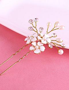 נשים פנינה קריסטל כיסוי ראש-חתונה אירוע מיוחד סיכת שיער Stick השיער חלק 1