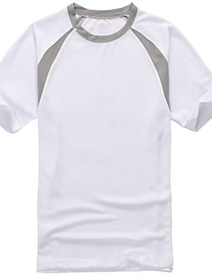 tanie Koszulki turystyczne-Męskie / Damskie T-shirt turystyczny Na wolnym powietrzu Szybkie wysychanie Top Sport i rekreacja Czerwony Zielony Niebieski