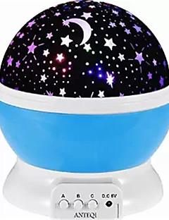 tanie Światła prezentów-1kpl Księżyc / Hvězdičky Projektor gwiazd NightLight Kolorowy Zasilane baterie AAA / USB Dla dzieci / Przysłonięcia / Zmieniająca Kolor Bateria / 5 V