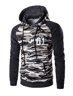 billige Hættetrøjer og sweatshirts til herrer-Herre Sport Hattetrøje - Farveblok, Trykt mønster