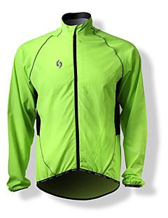 SPAKCT Veste de Cyclisme Homme Manches Longues Vélo Hauts/Tops Pare-vent Antistatique Décorations Réfléchissantes 100 % Polyester