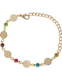 preiswerte Hochzeiten & Feste-Damen Ketten- & Glieder-Armbänder - Modisch Kreisförmig Silber Golden Armbänder Für