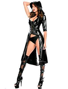 billige Sexy kostymer-Cosplay Cosplay Kostumer Party-kostyme Herre Dame Halloween Karneval Nytt År Festival / høytid Halloween-kostymer Svart Ensfarget Sexy