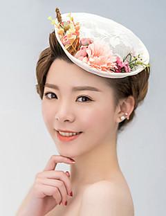 レースサテンの魅力帽子のヘッドピースクラシックな女性のスタイル