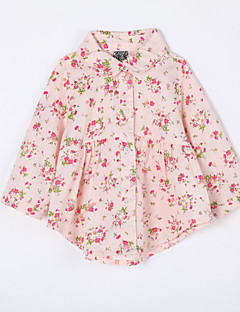 Baby Daily Floral Blouse-Cotton-Fall-Pink / Yellow