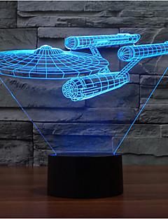 tanie Światła prezentów-okręt wojenny dotyk ściemniający 3d led night light 7 kolorowa dekoracja atmosfera lampa nowość oświetlenie światło