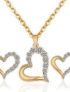 preiswerte Hochzeiten & Feste-Damen Schmuck-Set Ohrringe / Halsketten - Gold Halskette / Ohrringe Für Hochzeit / Party / Alltag