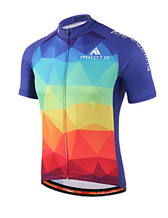 Miloto Cycling Jersey Men's Women's Kid's Unisex Short Sleeves Bike Sweatshirt Jersey Shirt Top Quick Dry Moisture Permeability Front