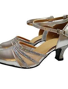 hesapli -Kadın Modern Balo Payetli Saten Patentli Deri Sentetik Yüksek Topuklular Sandaletler Topuklular Spor Ayakkabı Egzersiz Yeni Başlayan