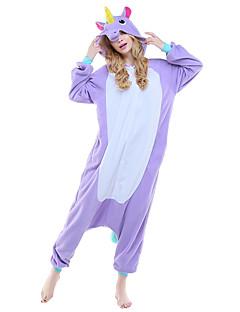 voordelige Uitgelicht door bloggers-Volwassenen Kigurumi pyjamas Unicorn Onesie pyjamas Kostuum Fleece Paars / Blauw / Roze Cosplay Voor Dieren nachtkleding spotprent Halloween Festival / Feestdagen
