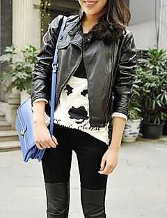 Women's Daily Street chic Fall Leather Jacket