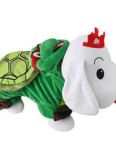 billiga Hundkläder-Katt / Hund Dräkter / Kostymer / Outfits Hundkläder Djur Grön Polär Ull / Skinna / Ner Kostym För husdjur Herr / Dam Cosplay
